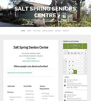 Salt Spring Seniors Centre where people care about each other!