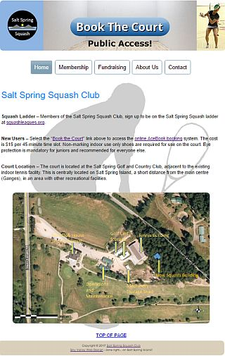Salt Spring Squash Club - Book the Court!